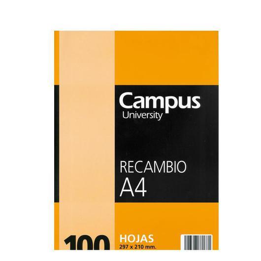 RECAMBIO A/4 100 H. CUADROS 4 TAL. 001124